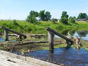 Мост в этом году по высокой воде