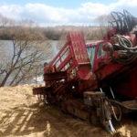 Владимирские газовики проложили трубу межпоселкового газопровода под Кольчугинским водохранилищем